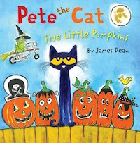 "cover image for ""Pete the Cat: Five Little Pumpkins"" by James Dean"