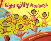 "cover image for ""Eight Silly Monkeys"" by Steve Haskamp"
