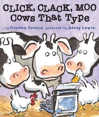 "cover image for ""Click, Clack, Moo: Cows That Type"""