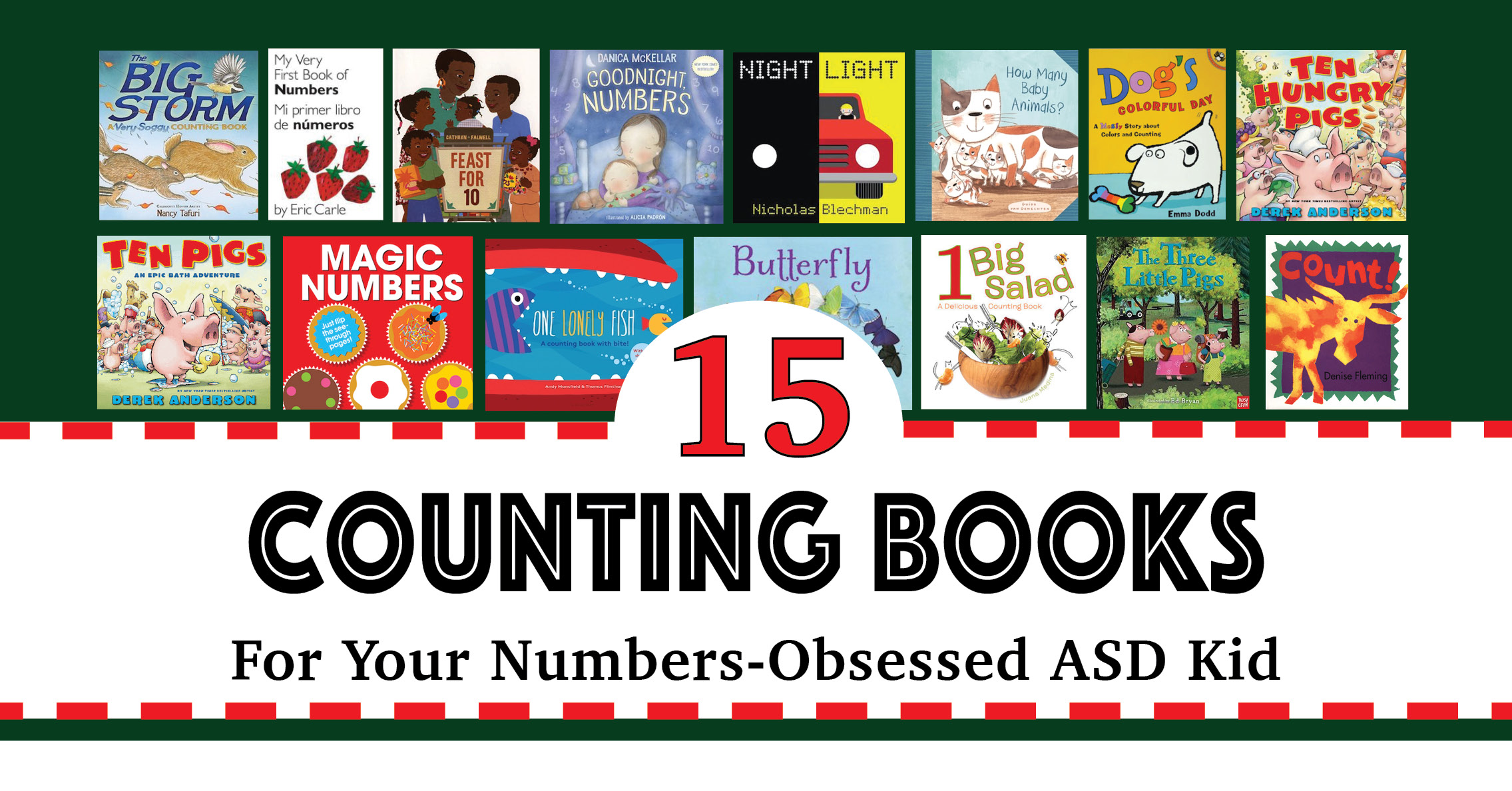 15 Counting Books for Kids with Autism