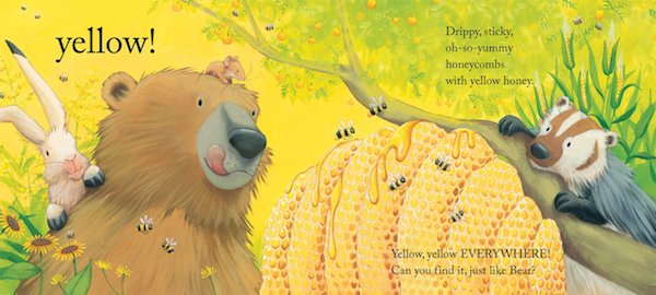 interior page for Bear Sees Colors by Karma Wilson: """"