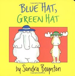 cover image of Blue Hat, Green Hat by Sandra Boynton